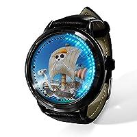 ユニセックスビジネスカジュアルワンピース時計クォーツレザー腕時計男性用ブラックレザーストラップ付きレディースボーイコレクションギフトウォッチ-A
