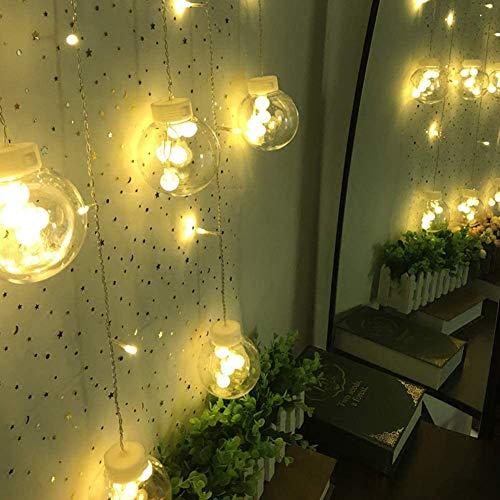 12 LED Bubble Glass Ball String Light Battery Operated Decoratie Van Kerstmis Flashing String Gordijn Lights Xmas Lamp