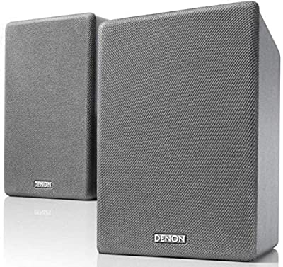 Denon SCN10 Speakers, Two-Way HiFi Speakers for TV Sound System, 2x 65W, Compatible with Receivers & Amplifiers, Elegant Design - Grey by Denon