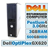 Dell OptiPlex GX 620 DT/Pentium 4 3.0 @ 3.00 GHz/3GB DDR2/500GB HDD/CD-ROM/Windows 10 Home 64 BIT