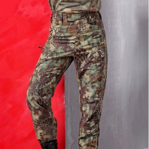 NoGa Archon Outdoor Hose IX7 Taktische Hose Battle Strike Uniform Hose Assault Pants Camping Ausflug Paintball Drei Wüsten Camouflage Pants (Green Python Camouflage, XXXL)