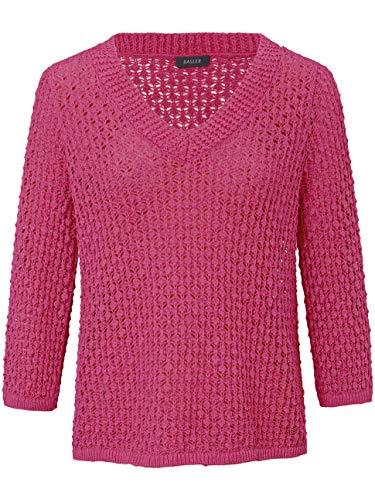BASLER Damen Pullover mit Ajour-Strick und ¾-Ärmeln