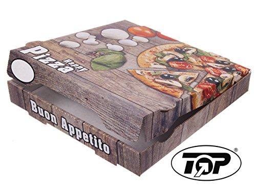 TOP Marques Collectibles 100 Pizzakartons Pizzaboxen braun NYC New York 4,2cm hoch Piccante Verschiedene Größen zur Auswahl (33x33x4.2cm)