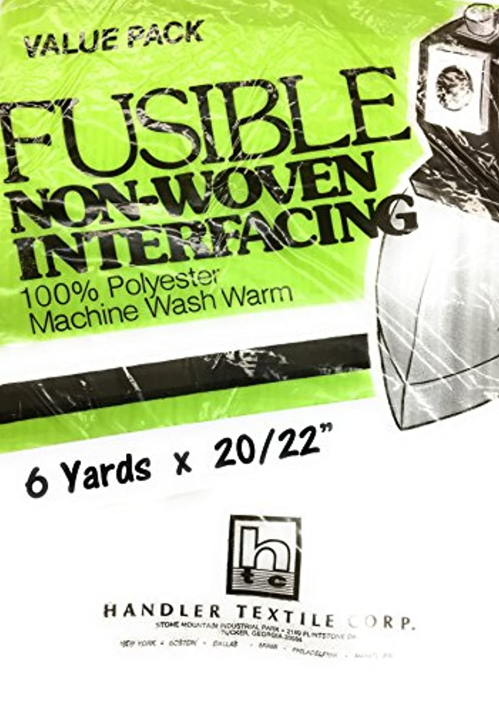 White NON WOVEN FUSIBLE INTRFACING Med. Weight , 6 yards x 22 ptcuvnftovq287