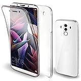 Moozy 360 Grad Hülle für Huawei Mate 10 Pro - Vorne & Hinten Transparent Dünne Handyhülle Case - Hart PC Zurück, Weiche TPU Silikon Vorderseite