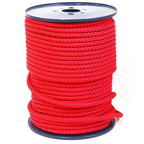FTM Springseil Tau Seil, PP, Rot, Meterware von der Rolle, Ø 9mm (20 Meter)