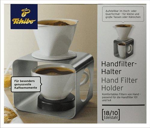Tchibo Handfilter Halter Edelstahl 18/10