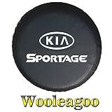 Wooleagoo15' nero della ruota di scorta pneumatico copertura borsa antipolvere per KIA Sportage