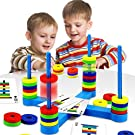 Family Kids Board Game Educational Toy Magnetic Matching Game for Kid Fun Stem Science Magnetic Toy for Children 2 3 4 5 6 7 8 Year Old Boys Girls Adults Gift