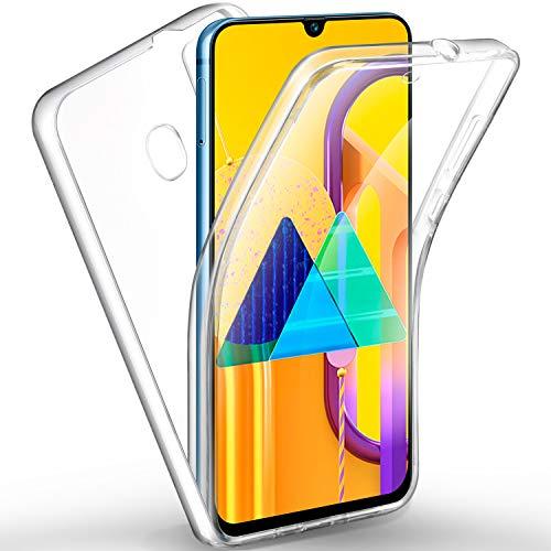 AROYI Samsung Galaxy M21 / M30s Hülle 360 Grad Handyhülle, Silikon Crystal Full Schutz Cover [2in1 Separat Hart PC Zurück + Weich TPU Vorderseite] Vorne & Hinten Schutzhülle für Samsung M21 / M30s