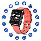 Tipmant Smartwatch Orologio Fitness Uomo Donna Bambini Cardiofrequenzimetro da Polso Impermeabile...