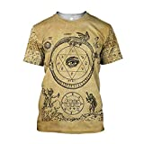 Odin Shirt Men Nordic God Vikings Tattoo Summer O-Neck Short Sleeve 3D Printed T-Shirt,Odins Eyes,M