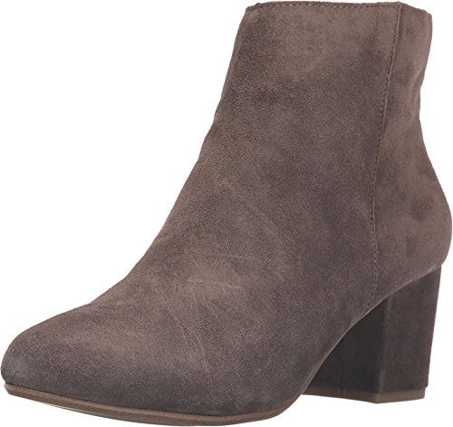 Steve Madden Women's Holster Ankle Bootie Grey Suede 8 B(M) US