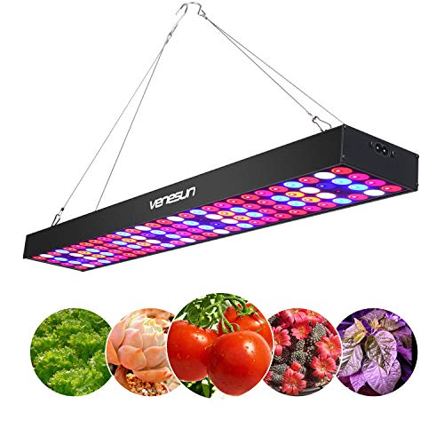 100W LED Grow Light, Venesun Upgraded 24.8inch Long Full Spectrum LED Grow Lamps for Indoor Plants Growing