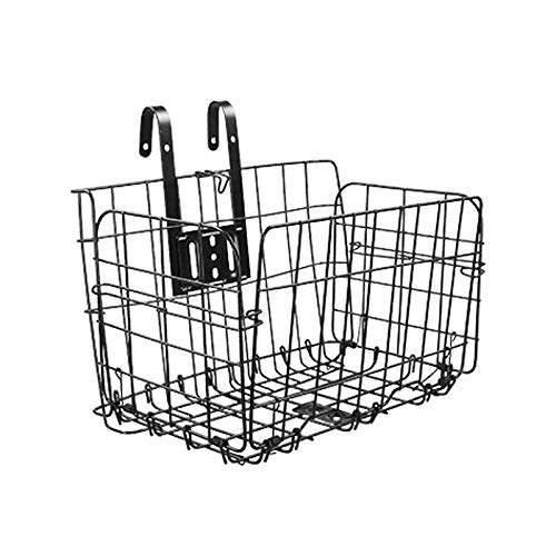 Read About Folding Rear Bicycle Basket Line Grid Folding Removable Front Bag Rear Suspension Bicycle...