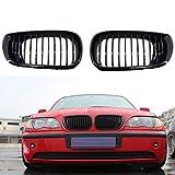 SBCX Piezas de automóviles, para BMW E36 M3 97 99 Front Sport Kidney Grille Gloss Black + M Color
