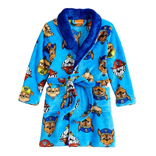 Paw Patrol Character Toddler Boy's Luxe Fleece and Sherpa Bathrobe, Robe (4T)