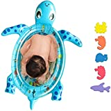 Topwon Tummy Time Mat Turtle Shape Inflatable Water Play Mat for Infants Baby,BPA Free - Great Gift