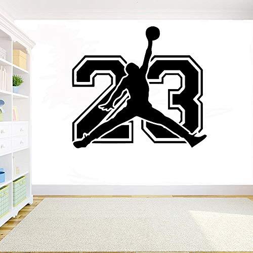 Pegatinas de pared para lectura en el aula, arte del tatuaje de pared, para el club de baloncesto de la habitación 63x57cm
