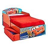 Kinderbett Holz mit Schubladen Disney Cars 140x70cm - mit Rausfallschutz
