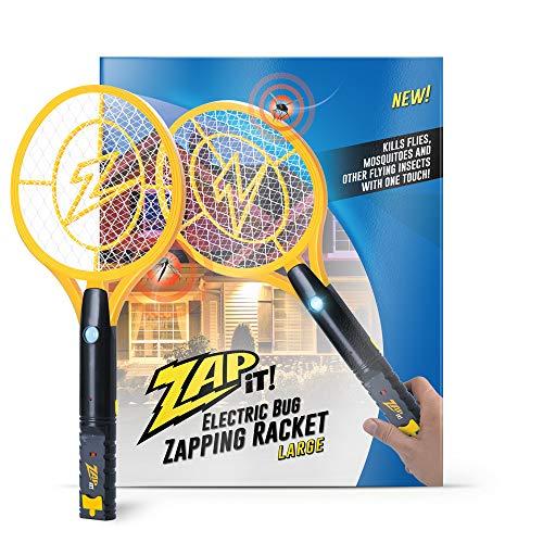 Zap It Bug Zapper Rechargeable Bug Zapper Racket, 4,000 Volt, USB...