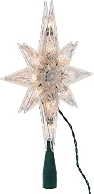 Kurt Adler 10-Light 11-inch Clear Polar Star Treetop
