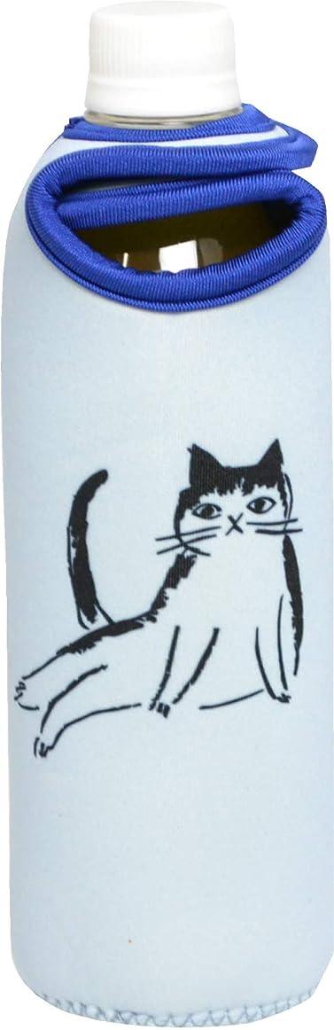 逸品社(Ippinsha) ペットボトルカバー ブルー 500ml用 CAT'S Whiskers (キャッツウィスカーズ) 41562-1
