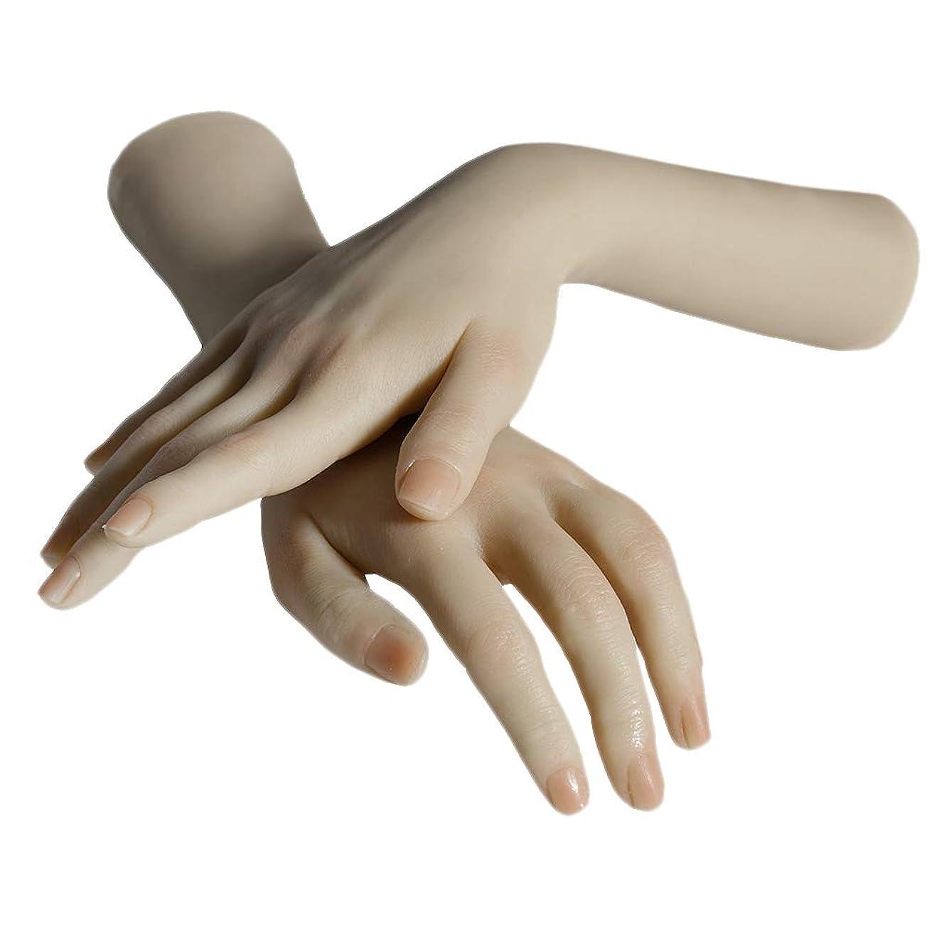 あらゆる種類の一握り九Perfeclan ネイルアート マネキンハンド 手表示モデル 手模型 練習 実践手 シリコン