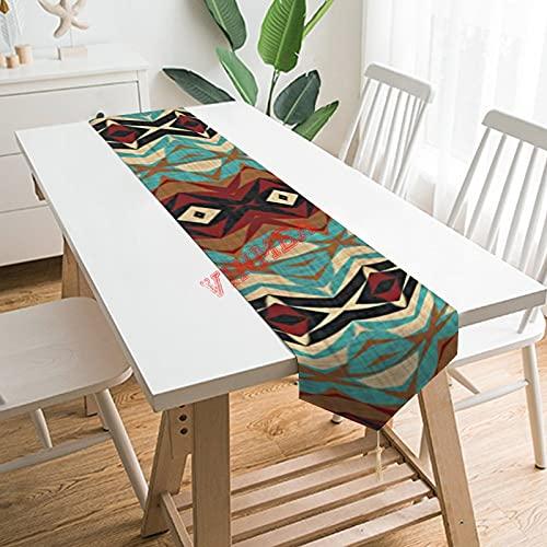 Camino de mesa bufandas, único camino de mesa para el hogar, cocina, cena, boda, eventos, decoración, 13 x 200 cm