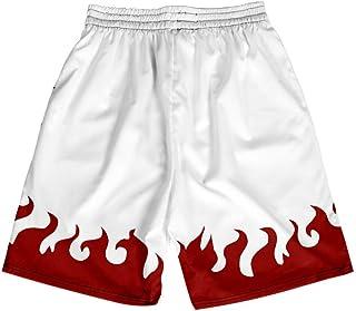 XIELH Shorts Summer 3D Printed Beach Pants Home Plus Size Loose Pants 3D Cartoon Anime Beach Shorts