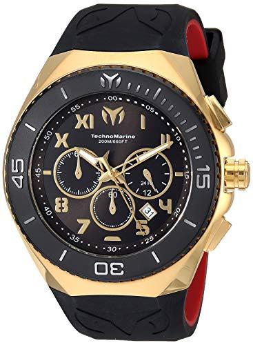 Technomarine hombre 'manta de cuarzo reloj Casual de Silicona y acero inoxidable, color: dos tono (modelo: tm-215066)