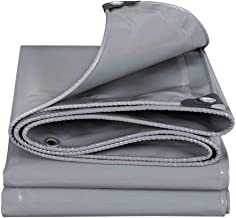 Yxsd Canvas Dubbelzijdig waterdicht Heavy Duty dekzeil magazijn dak auto draagbare schaduwdoek 0.5mm (kleur: grijs, maat: ...