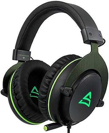 SUPSOO G817 surround suono stereo Cuffie auricolari per cuffie auricolari per giochi per PC con microfono a cancellazione del rumore e controllo del volume (nero e verde) - Trova i prezzi più bassi