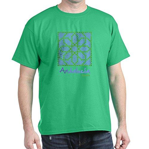 CafePress - Andalusian Tiles 7 T-Shirt - 100% Baumwolle T-Shirt Gr. M, kelly green