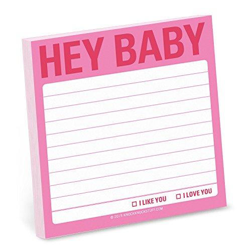 Knock Knock Sticky Notes, Hey Baby (12467)