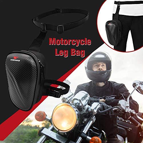 Drop Leg Bag Für Männer Frauen Motorrad Bike Hip Bum Belt Taille Gürteltasche, Mit Hartschale Wasserdichten Metall Detektionsbeutel, Travel Outdoor Camping Taktisches Wandern Radfahren Crossbody