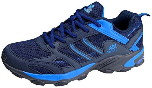 gibra® Herren Sportschuhe, sehr leicht und bequem, Art. 6527, dunkelblau/blau, Gr. 45