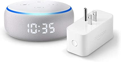 Echo Dot (3rd Gen) with Clock and Amazon Smart Plug - Sandstone
