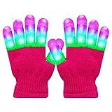 H-Style Light Up Gloves - LED Light Gloves for Kids/Teenager/Adult, Light Up Gloves for Party