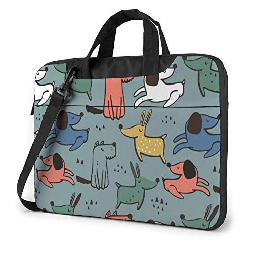 Laptop Tote Bag, Dogs Animal Protective Laptop Sleeve Cover with Handle Fits 13-15.6in Notebook for Women
