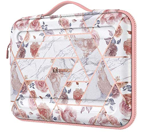 SURITCH Laptop bag 13 inch-13.3inch Waterproof Laptop Case Sleeve with Accessory Pocket Compatible with MacBook Air 13-inch Retina, MacBook Pro 13' Notebook Protective Cover for Women Men (Rose)