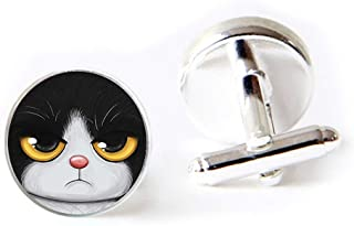 cheshire cat cufflinks