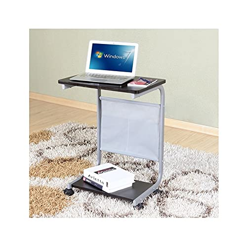 BIAOYU Mesita de noche para ordenador, mesa de escritorio, extraíble para el suelo, mesa de escritura, sofá, mesa auxiliar para el hogar, oficina, dormitorio (color: B)