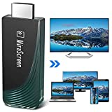 Wireless WiFi Display Adapter Dongle, 5G/2.4G Wireless Display Receiver Miracast Mirroring Screen, Full HD 1080P & Dual Band HDMI Dongle for Smartphones Laptops to HDTV Projector Car Monitor