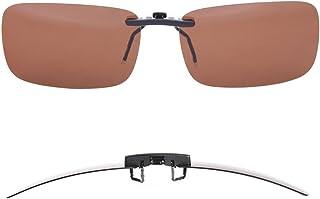 TERAISE Polarized Clip-on Sunglasses Over Prescription Glasses Anti-Glare UV400 for Men Women Driving Travelling Outdoor S...