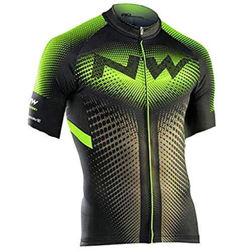 HappyL Grün Radtrikot Sommer-Kurzschluss-Hülsen-Mountian Fahrrad Fahrradbekleidung Rennrad-Kleidung for Mans (Color : Cycling Jersey Only, Size : XL)