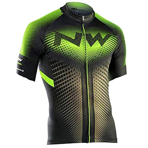 HappyL Grün Radtrikot Sommer-Kurzschluss-Hülsen-Mountian Fahrrad Fahrradbekleidung Rennrad-Kleidung for Mans (Color : Cycling Jersey Only, Size : XL)