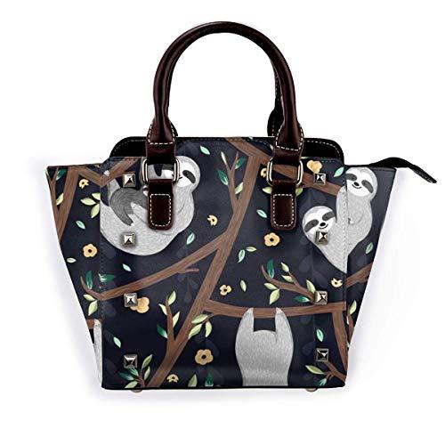 Nette Baum-Mädchen-Handtaschen Geldbörsen Totes Leder-Umhängetaschen Top Satchel Rivet Womens for Work Shopping