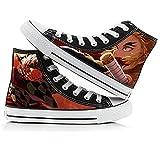 MYLXDN Demon Slayer: Kimetsu No Yaiba Anime De Lona De Caña Alta Zapatillas De Deporte Unisex De Planas Cosplay Zapatos Zapatos De Altas De Suela De Goma For Estudiantes para 40