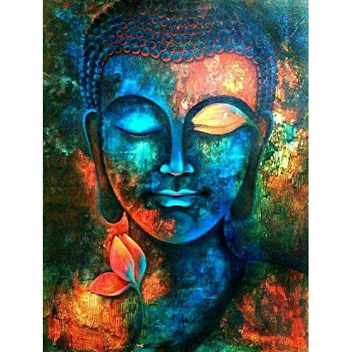 Diy Malen Nach Zahlen Kit-Buddha Religion 40X50Cm Erwachsene Kinder Anfänger Mit Pinsel Acryl-Pigment Leinwand Graffiti Malset Kreativ Geburtstags Geschenk